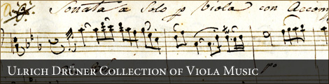 Ulrich Drüner Collection of Viola Music